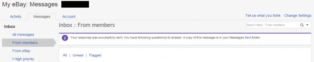 UNANSWERED QUESTION(未回答の質問)へのRespond(返答)の完了