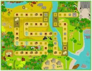 モッピーの「モッピーアドベンチャー3」のマップ