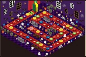 げん玉の「おばけハウス」のマップ