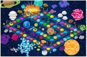 ゲットマネーの「コズミックワールド」のマップ