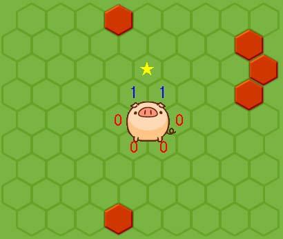 「★」に壁を設置する場合、「1」(左上・右上)には移動せず、「0」(左・左下・右下・右)のどこかに移動する。