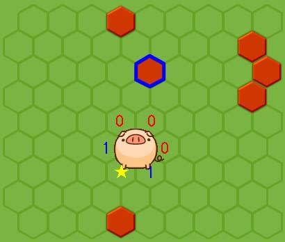 「★」に壁を設置する場合、「1」(左・右下)には移動せず、「0」(左上・右上・右)のどこかに移動する。