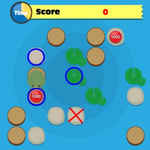 青色の「○」の場所へは移動できるが、赤色の「☓」の場所へは移動できない。
