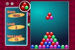 落ちてくるボールは他のブロックに接触するとバラバラになるため、放置すると巨大な三角形のような形になる。