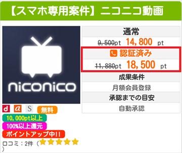 i2iポイントでニコニコ動画にプレミアム会員登録して18,500ポイントを稼ぐ方法