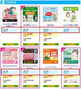 「10pt = 1円」の某サイトでは、8pt(0.8円)/回。