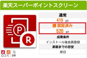 520ptは電話番号認証(SMS)済みのときに限る。