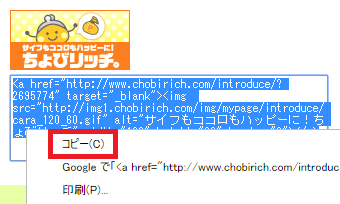 HTMLソースをクリックした後に「Ctrl + A」で全選択できるので便利です。
