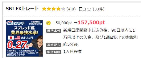 157,500pt = 15,750円