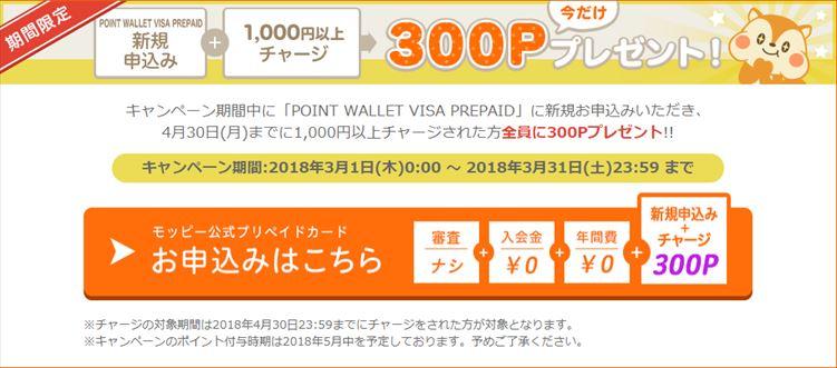 POINT WALLET VISA PREPAIDの発行 & ポイント交換で特典を貰えるキャンペーン