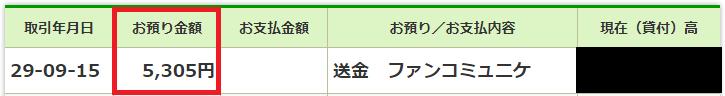 ゆうちょ銀行の明細