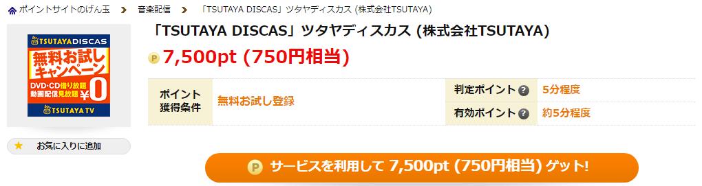 げん玉のTSUTAYA DISCASの広告