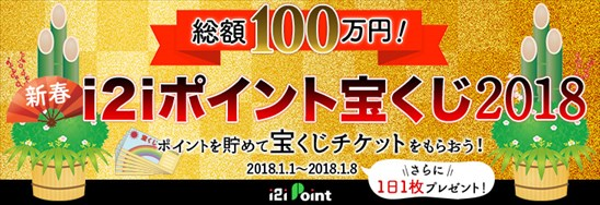 i2iポイント宝くじ2018