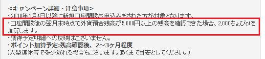 外貨預金残高5,000円以上で1,000円ゲット