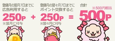 ライフメディアは紹介経由の新規登録で計500円の特典