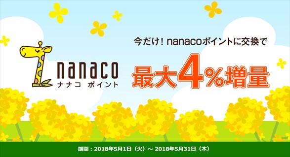 ドットマネーのnanaco増量キャンペーン