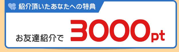 紹介する側の特典 : 1人を紹介する度に300円