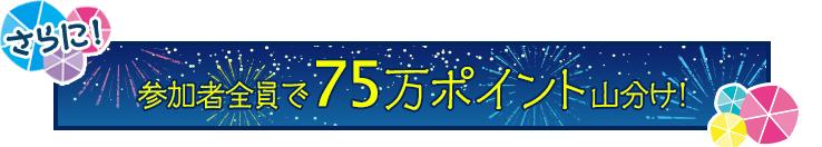 夏祭りキャンペーンの75万円分の山分けポイント