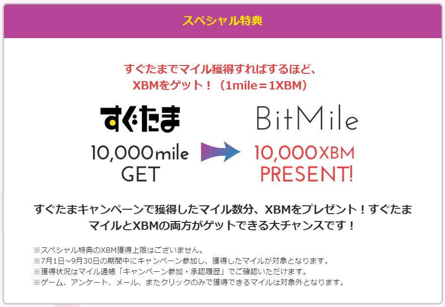 ビットマイル無料配布キャンペーンのスペシャル特典