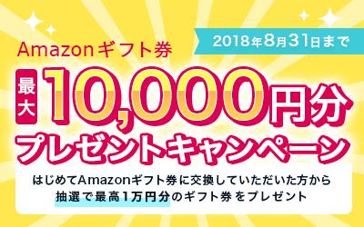 アマゾンギフト券のプレゼントキャンペーン