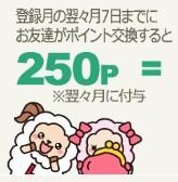 ライフメディアの紹介特典(友達がポイント交換で250円)